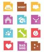 Fotografie pes vektorové ikony-