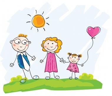 Doodle happy family