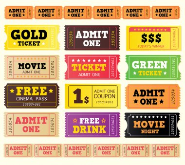 Vintage cinema tickets