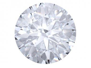 White diamond top view