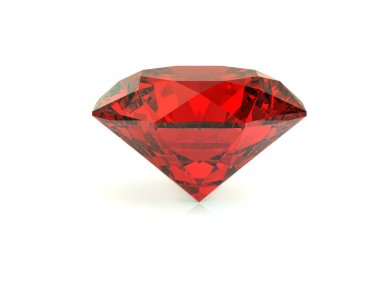 Red diamond on white background
