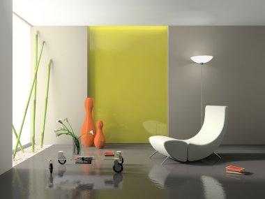 Elegant interior with stylish armchair