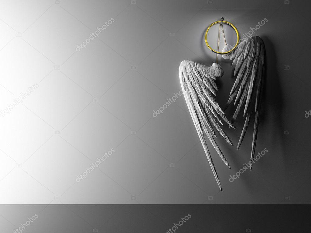 interieur paar witte vleugels scharnieren — Stockfoto © hemul75 #2765802