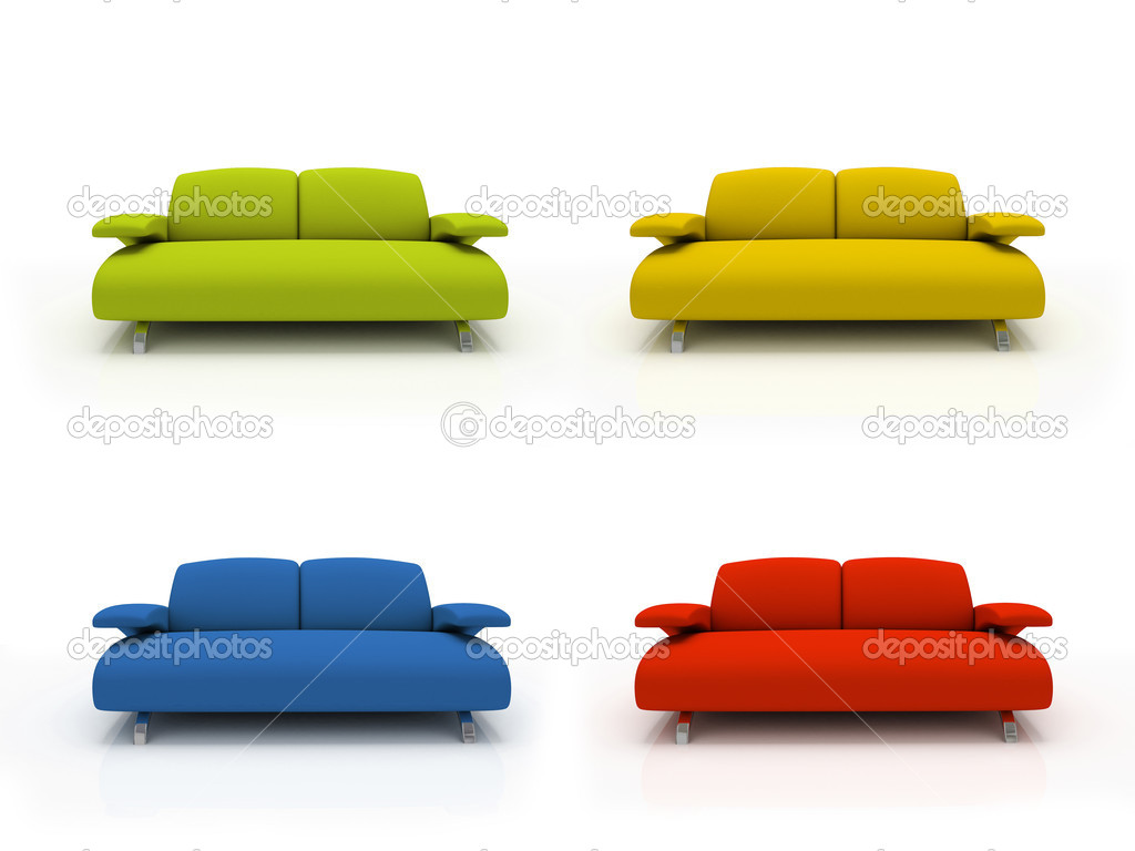 Divani moderni colorati foto stock hemul75 2766025 - Divani colorati ...