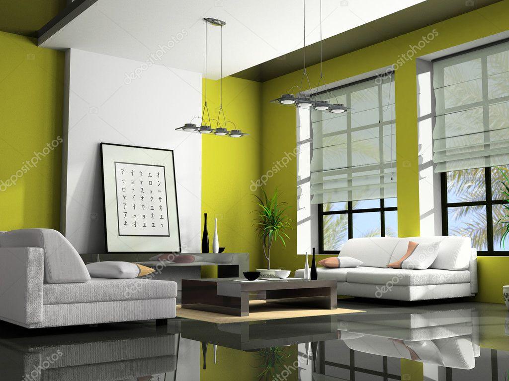 Home interior with sofas