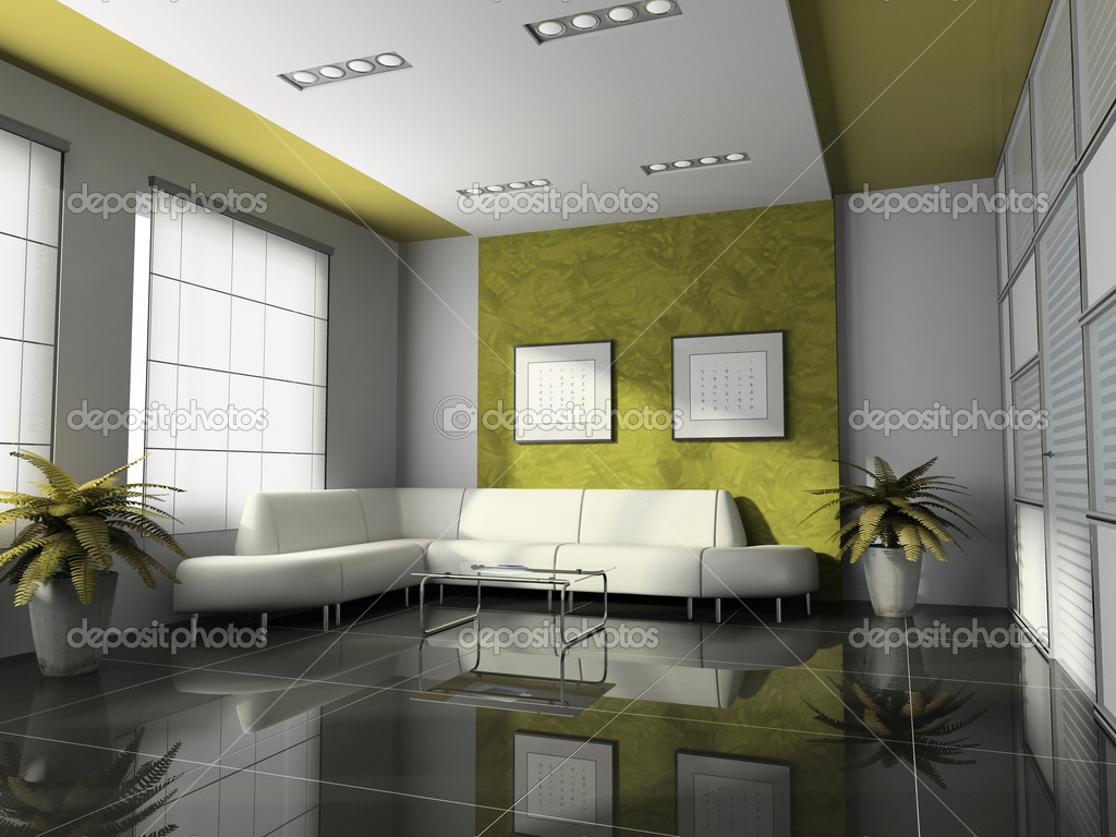 Office interior 3d rendering stock photo hemul75 2766266 - Peindre 2 murs de couleur differentes ...