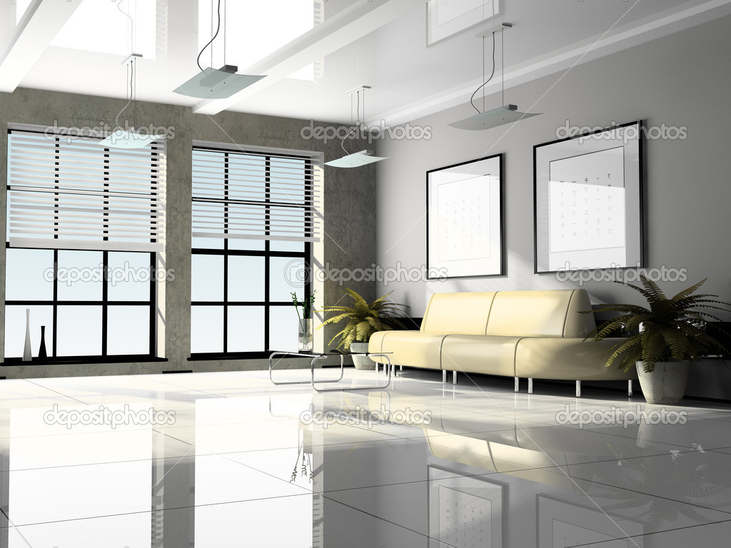Oficina interior render 3d fotos de stock hemul75 2766943 for Interior oficina