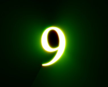 9,NINE,shine, green