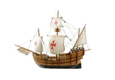 Wooden ship - miniature of Santa Maria