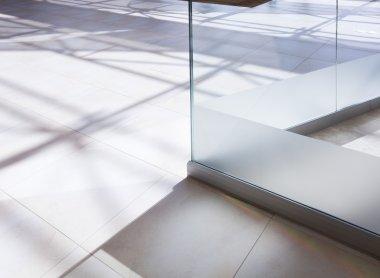 White tiled floor