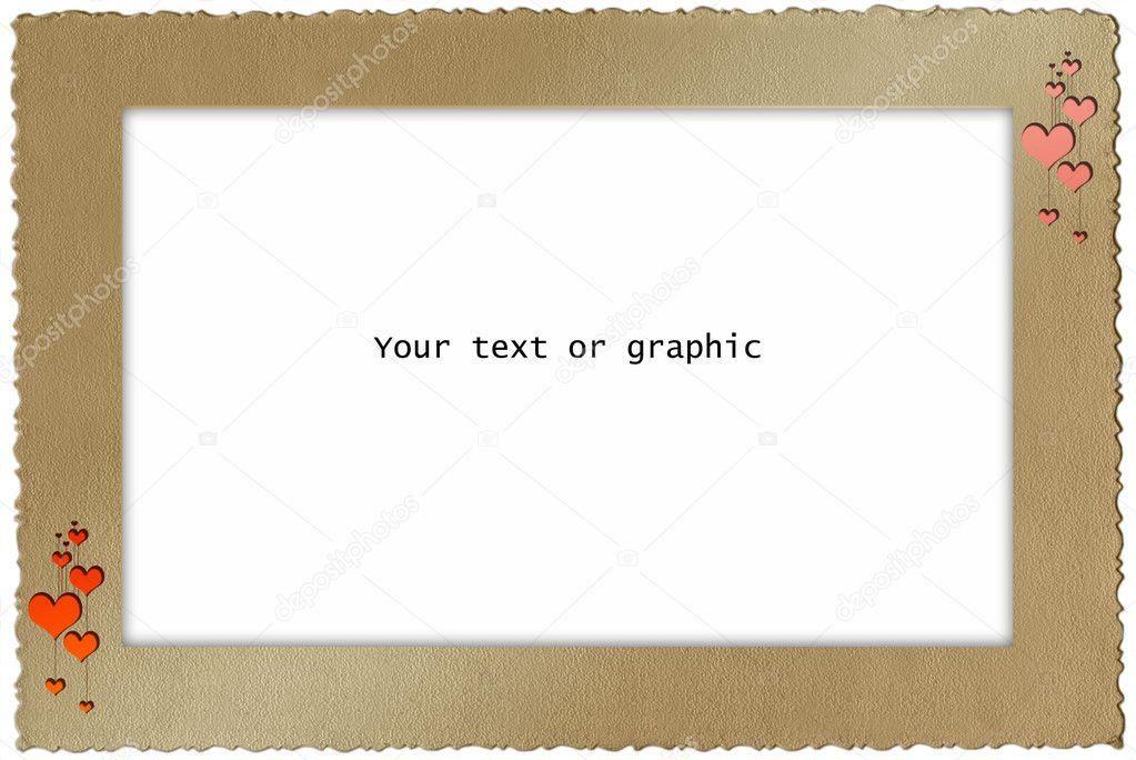 Retro alte Farbe Papier Rahmen — Stockfoto © Salfey #3866077