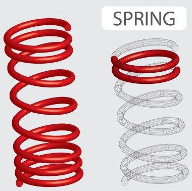 Spring Pressure vector