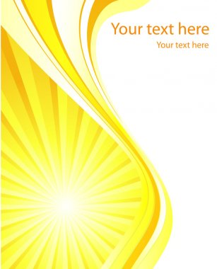 Stylized sun background vector template