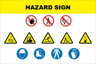 Safety and danger icon set