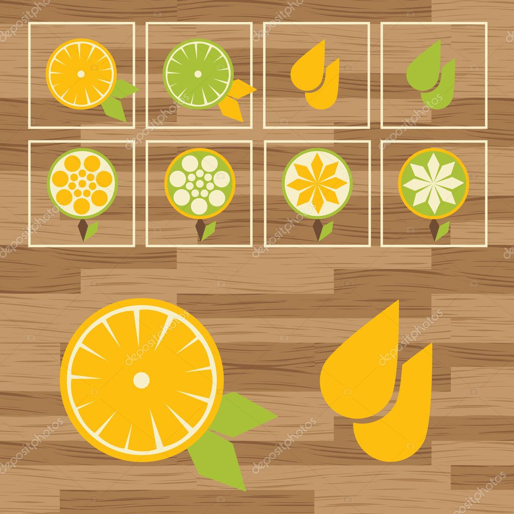Lemon button set vector