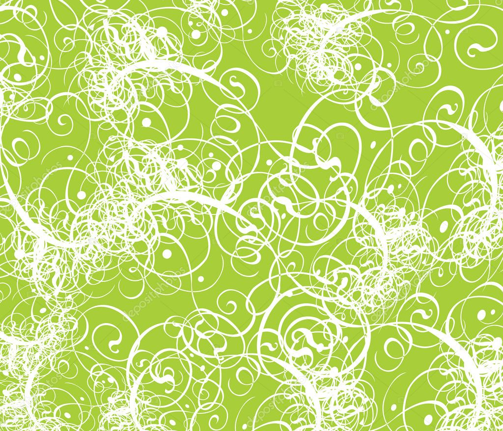 Eco background vector with floral swirls