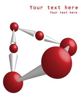 Molecule vector background DNA