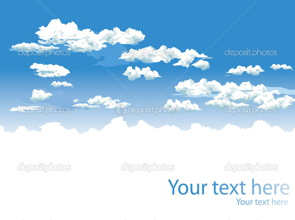 Sky and clouds vector background