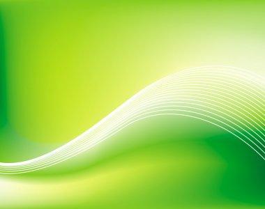 Green vector background