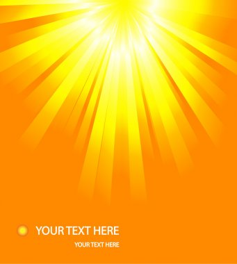Sun or sunrise Burst Summer Background Vector