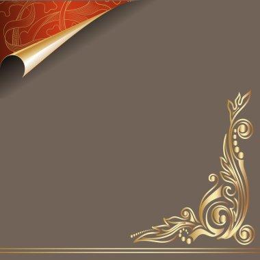 Vector paper golden curl