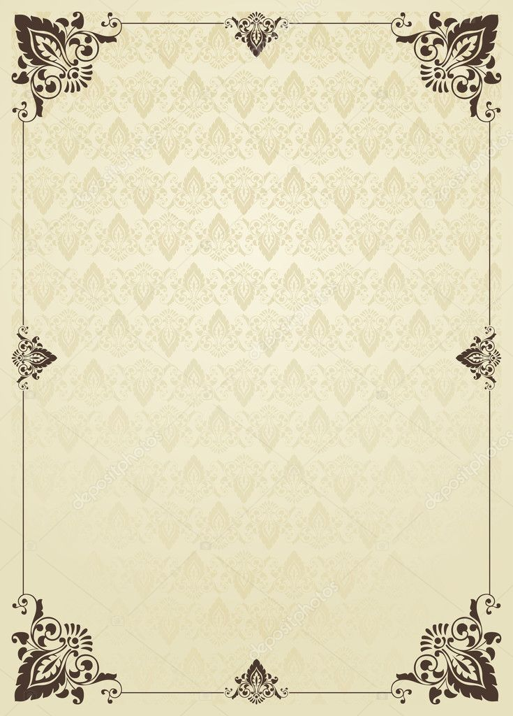 Book Cover Background Vector Free ~ Vertical vintage background for book cover vector — stock