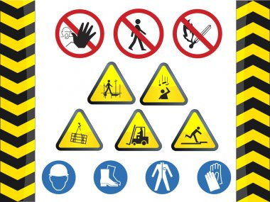 Construction hazard signs