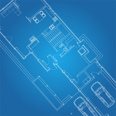 Architectural background vector blueprint