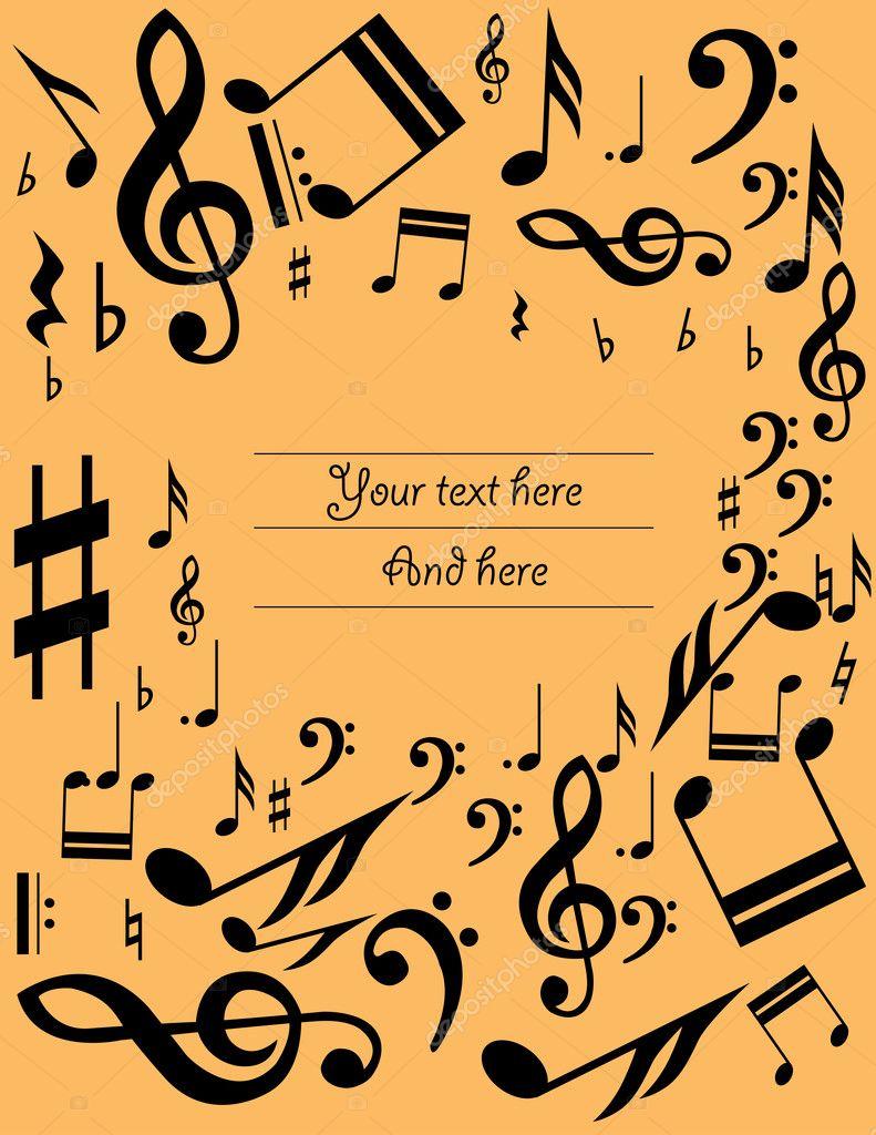 Fondo de hoja de música — Archivo Imágenes Vectoriales © krabata ...