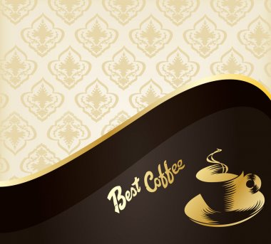 Vintage design menu. Concept for coffeehouse background vector