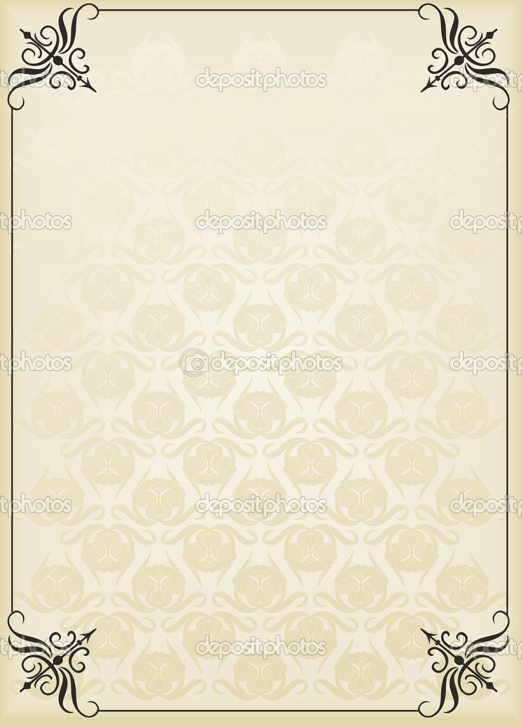 Vertical Vintage Background For Book Cover Vector Stock Vector C Krabata 3657658