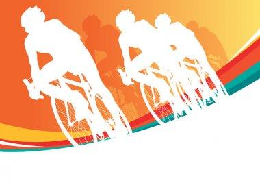 Sport bicycle vector racer
