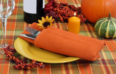 Evening Table Setting for Autumn