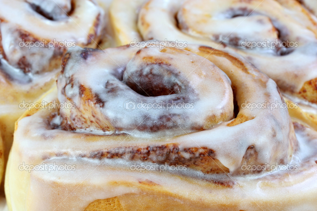 Close Up of Cinnamon Buns