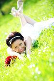 nevěsta v bílých šatech