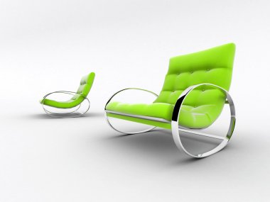 Interior design chairs isolated on white