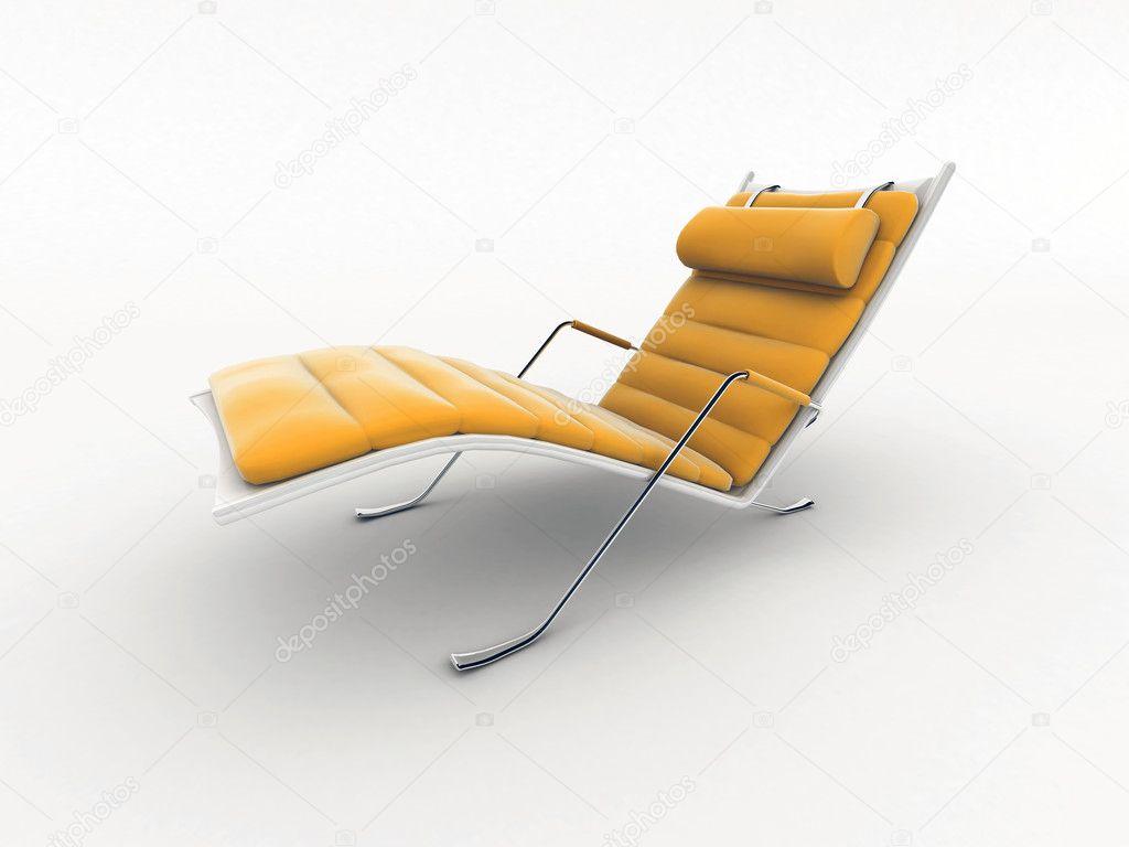 Design Stoel Lounge.Interieur Design Lounge Stoel Geisoleerd Op Wit Stockfoto