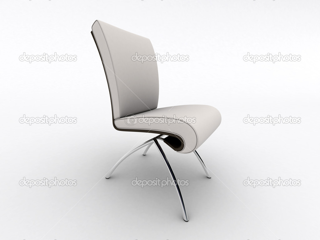 Interieur design stoel geïsoleerd op wit u stockfoto quaddesign