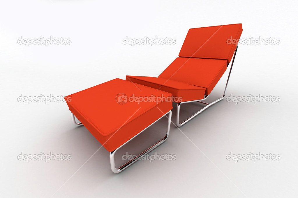 Design Stoel Lounge.Interior Design Lounge Chair Isolated On White Stock Photo