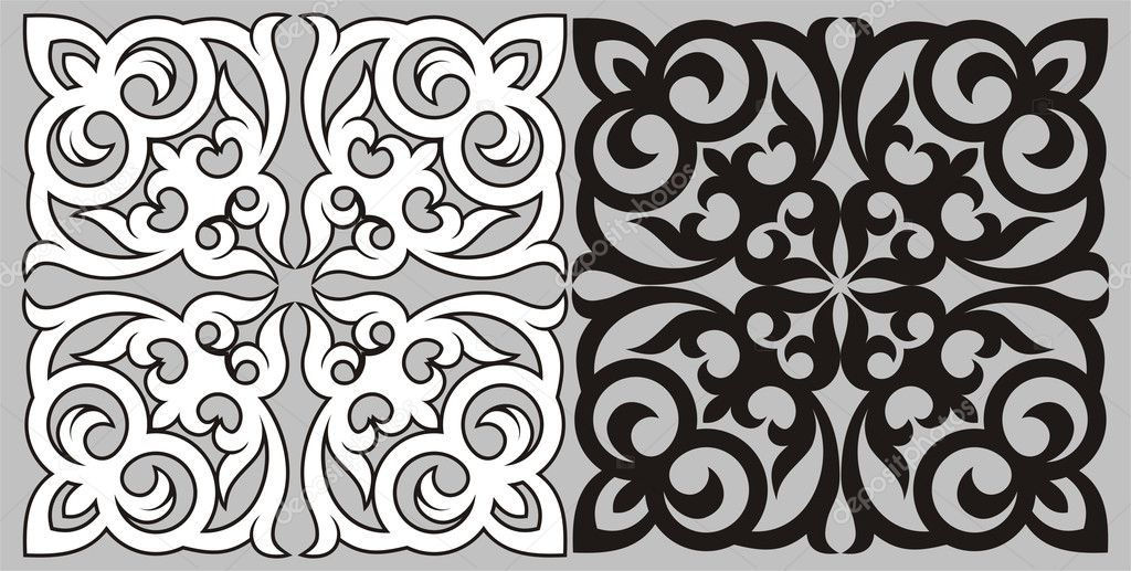 Pattern in traditional national style of Kazakhstan. A design element. clipart vector