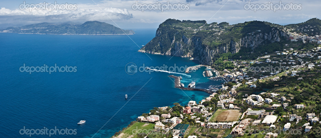 Panoramic view of Capri, Italy