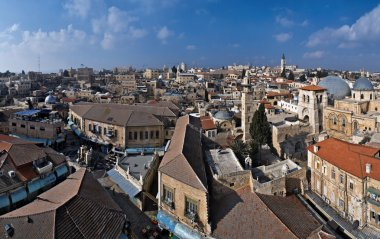 Panoramic view over Jerusalem Old City