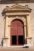 Tür der Kathedrale. Cartagena de indias