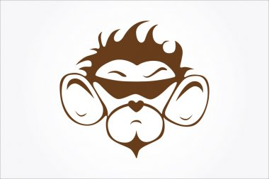 Monkey face in vector