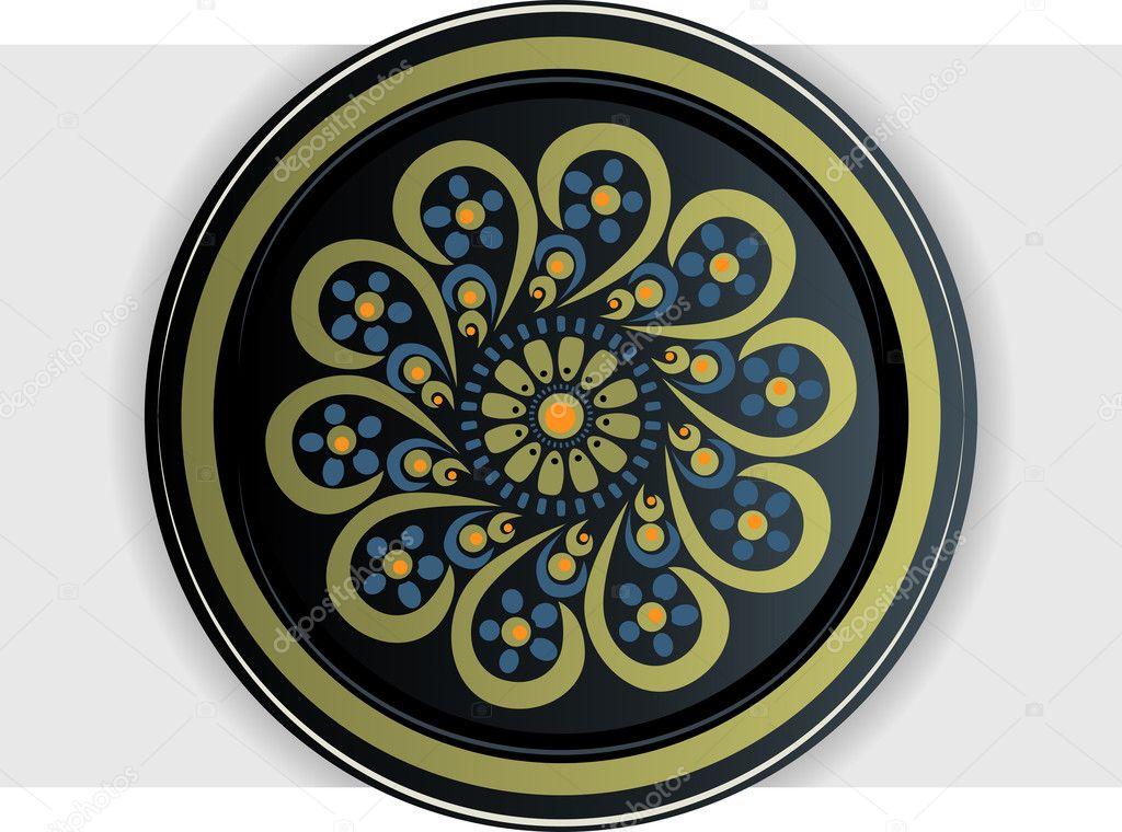 Khokhloma plate