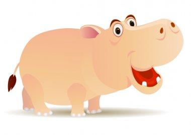 Vector cute hippo cartoon