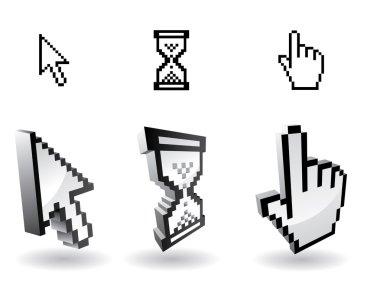 3d vector cursor icons