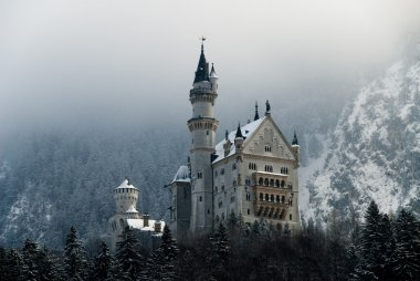 The Castle of Neuschwanstein in Winter