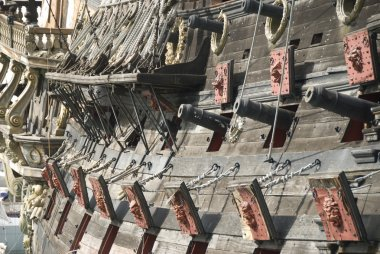 Cannons of a pirate ship