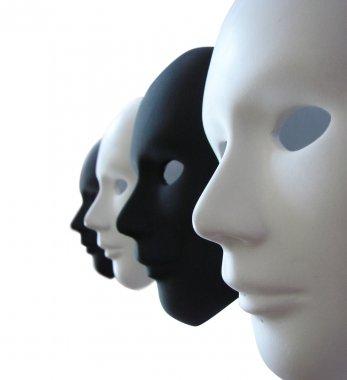 Black and white venetian masks